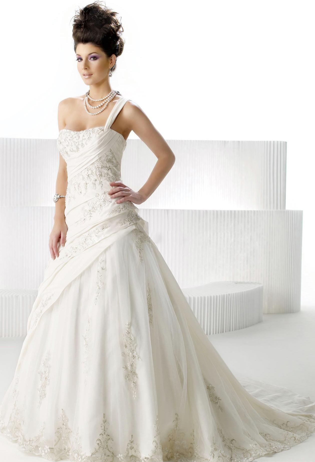 One strap wedding dress  wedding dresses princess wedding dresses with straps wedding dresses