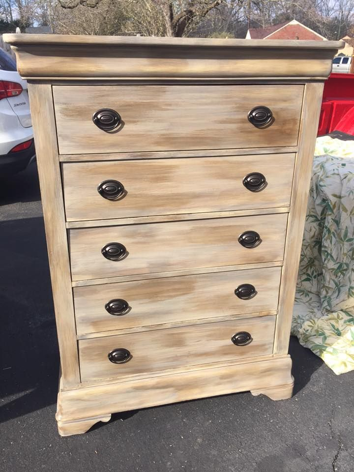 Chest Of Drawers Painted In Restoration Hardware Style