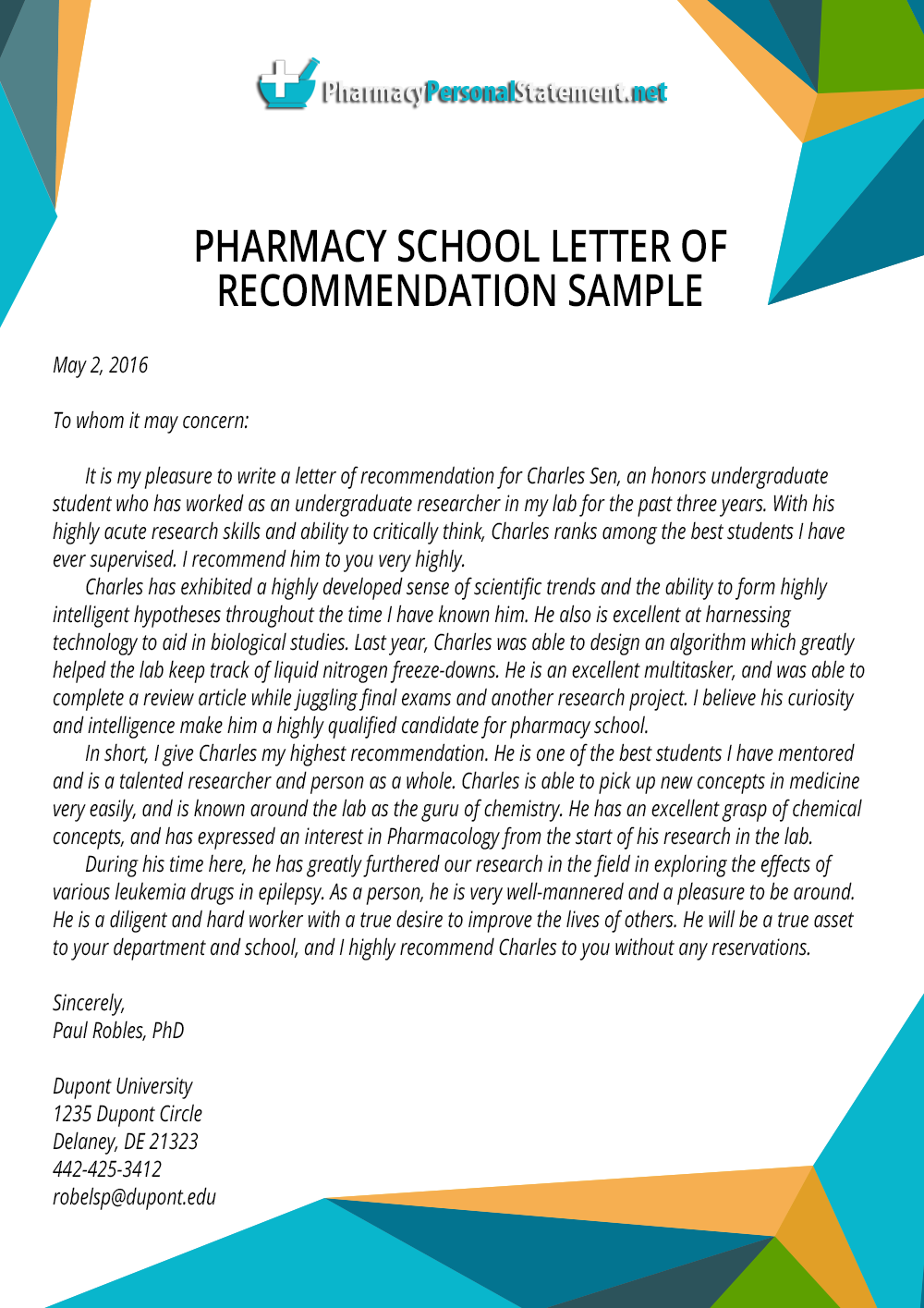 Letter Of Recommendation Examples Pharmacy Application Samples Pharmacyapply On Pinterest