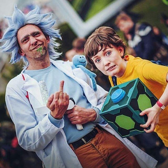 Rick Sanchez da uomo Teen Costume Rick e Morty TV personaggio Costume Di Halloween