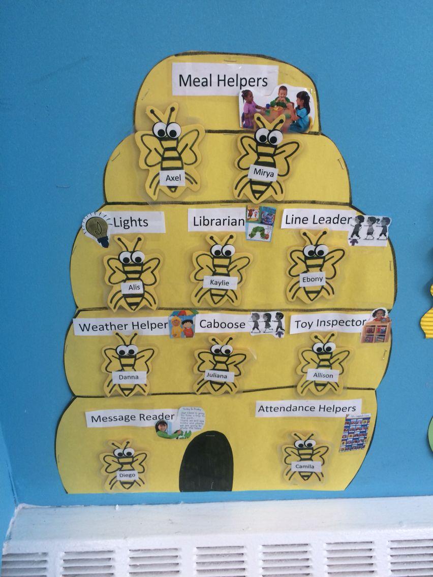 Preschool job chart, busy bees Preschool job chart