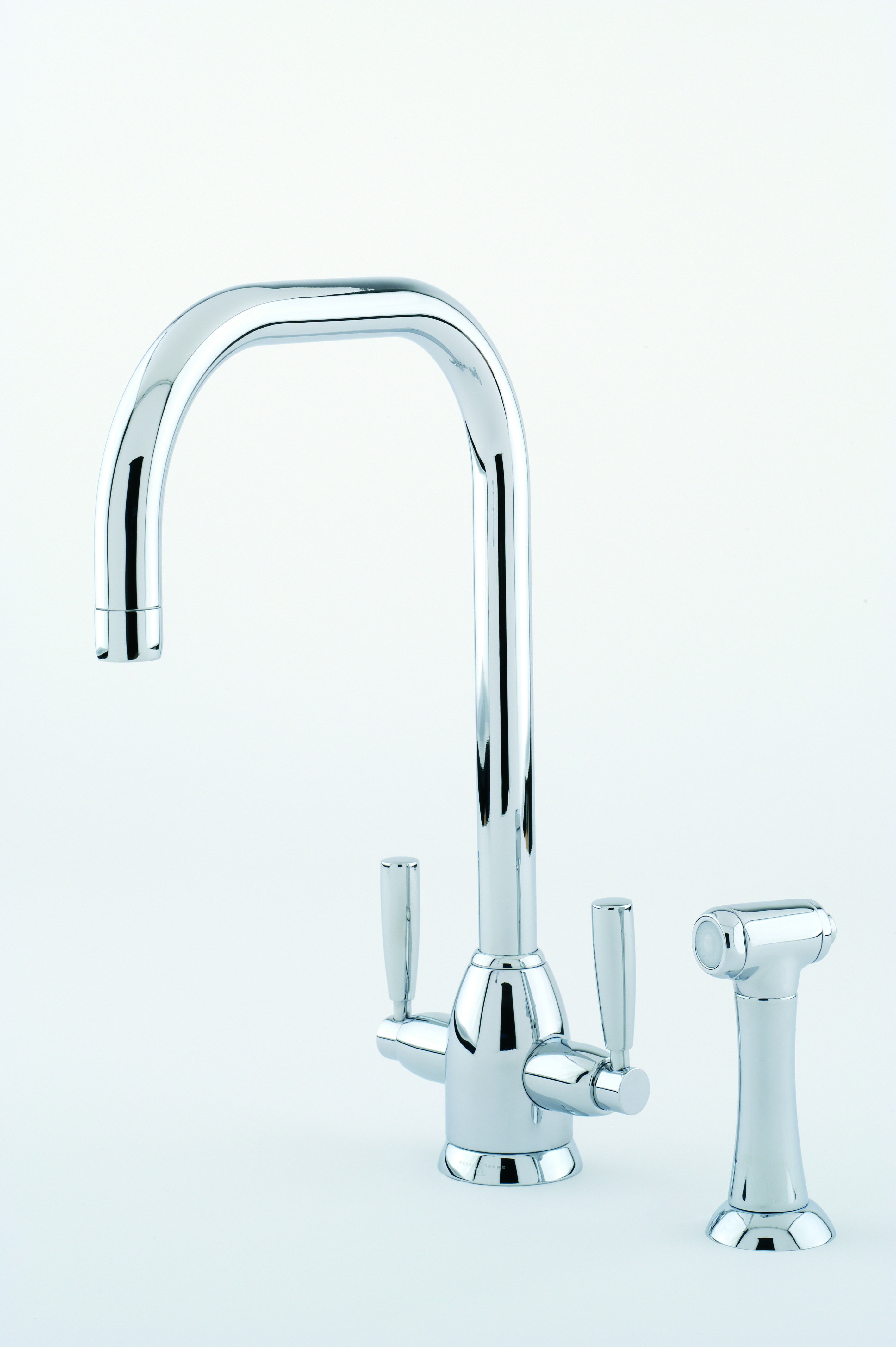 Perrin & Rowe Oberon Sink Mixer with U Spout and Rinse in Chrome ...