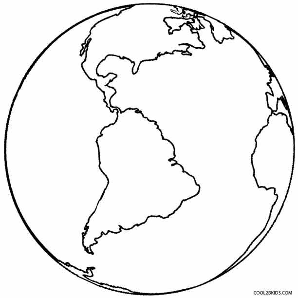 Printable Earth Coloring Pages For Kids Cool2bKids Space