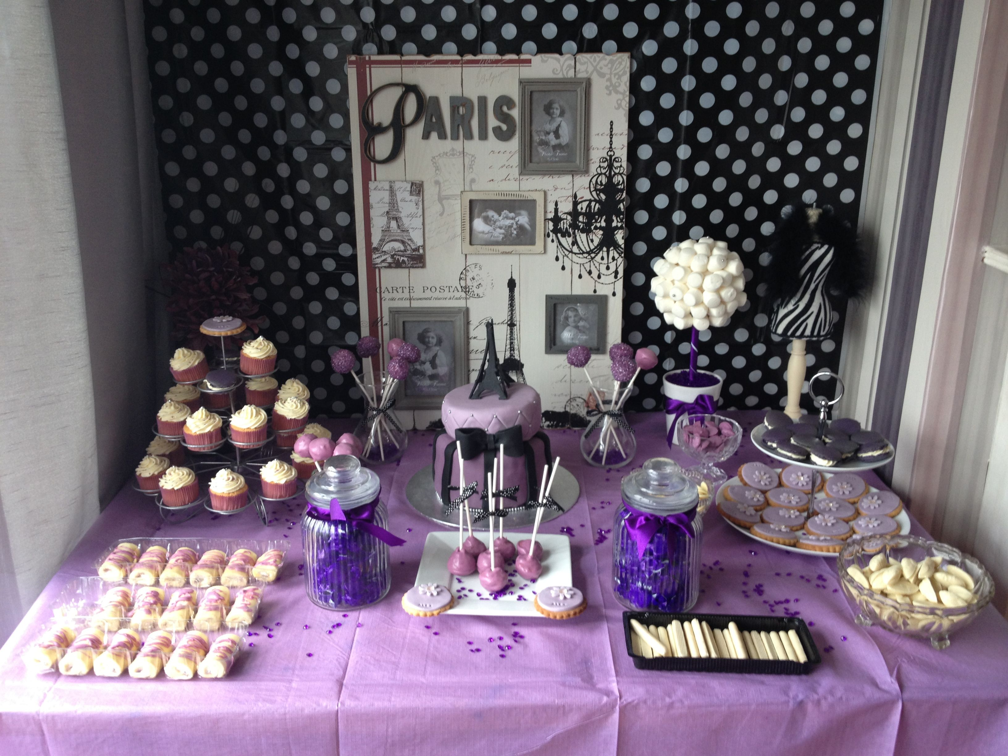 Good Paris Themed Party Decorating Ideas Part - 1: Purple Paris Party