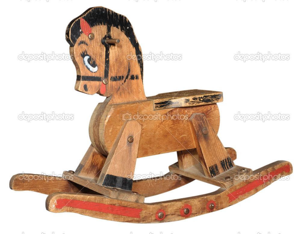 Wooden horse swing free patterns - Antique Wood Rocking Horse Stock Photo Jpainting 8380619