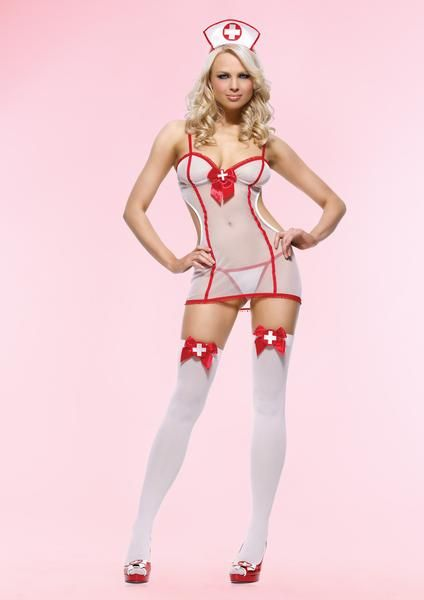 5b8b2f4e1 RuSong Womens Sexy Sheer Nurse Uniforme Nightie Lingerie Cosplay Set      You can find more details by visiting the image link.