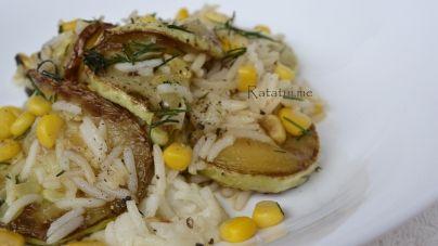 ბრინჯის და ყაბაყის სალათი