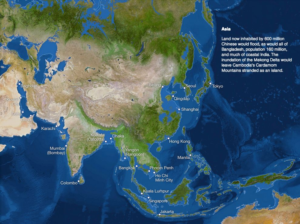 This Is What Earth Will Look Like If All The Ice Melts Earth and - new world map showing tokyo japan