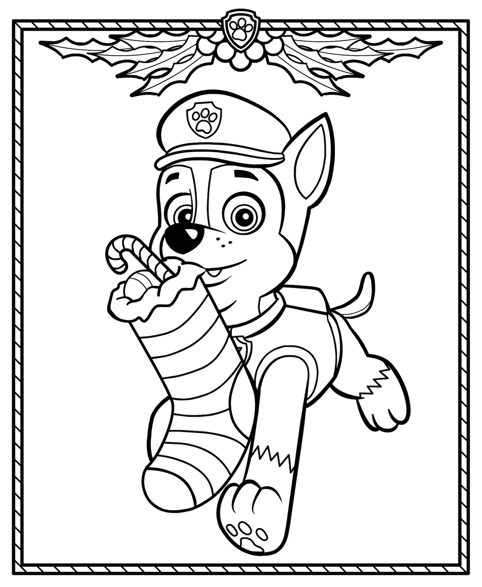 Christmas Coloring Pages Paw Patrol Coloring Paw Patrol Christmas Paw Patrol Coloring Pages