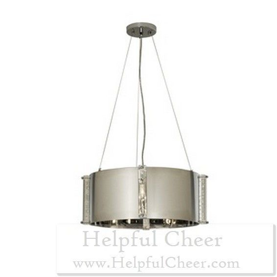 Zoom Medium Polished Stainless Steel 4-light Chandelier - at - 0153 - Your On