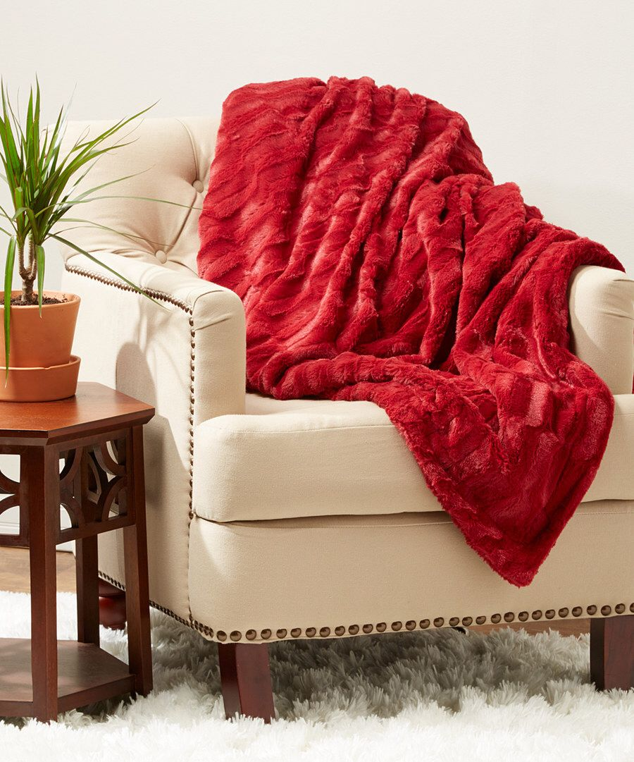 Look at this Dark Red Ashmere Throw on #zulily today!