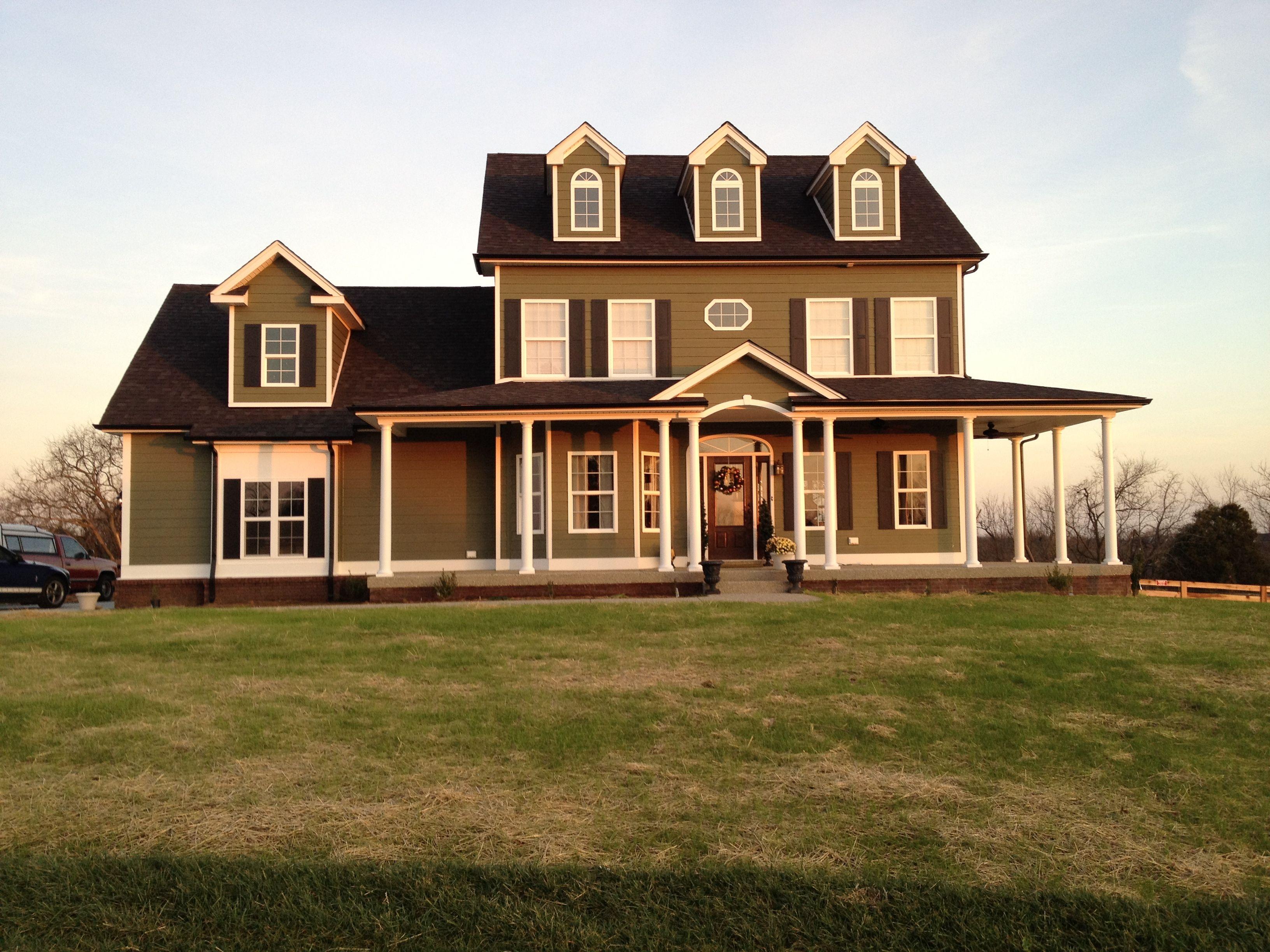 craftsman home green hardie home swansboro house plan don