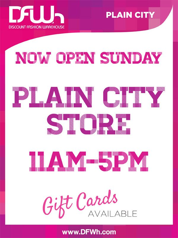 Plain City/ Dublin Location now open 7 days a week!