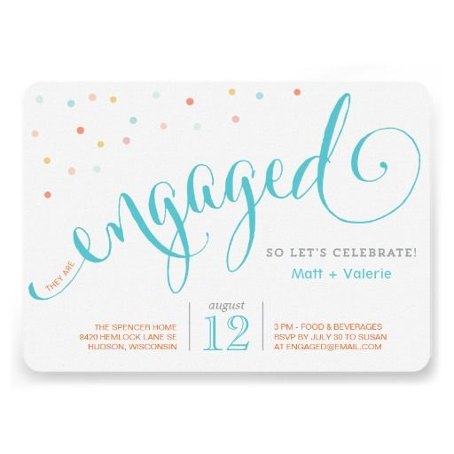 Confetti Engagement Party Invitation by Social Grace