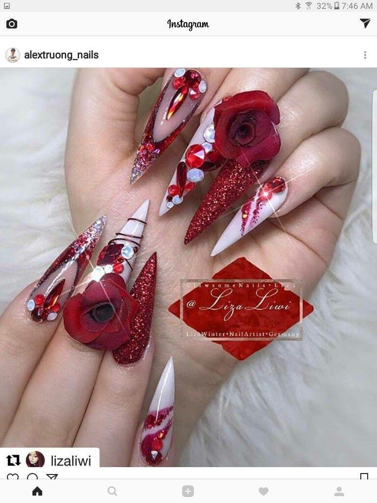 Pin von mimi auf Stiletto-Nägel | Pinterest | Stiletto-Nägel ...