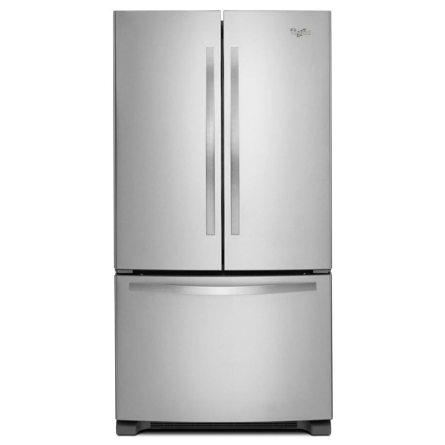 Whirlpool 25 2 Cu Ft French Door Refrigerator With Single Ice Maker Stainless Steel