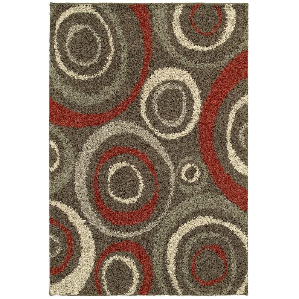 Home Decorators Collection Orbit Mushroom 10 Ft X 12 Ft Area Rug