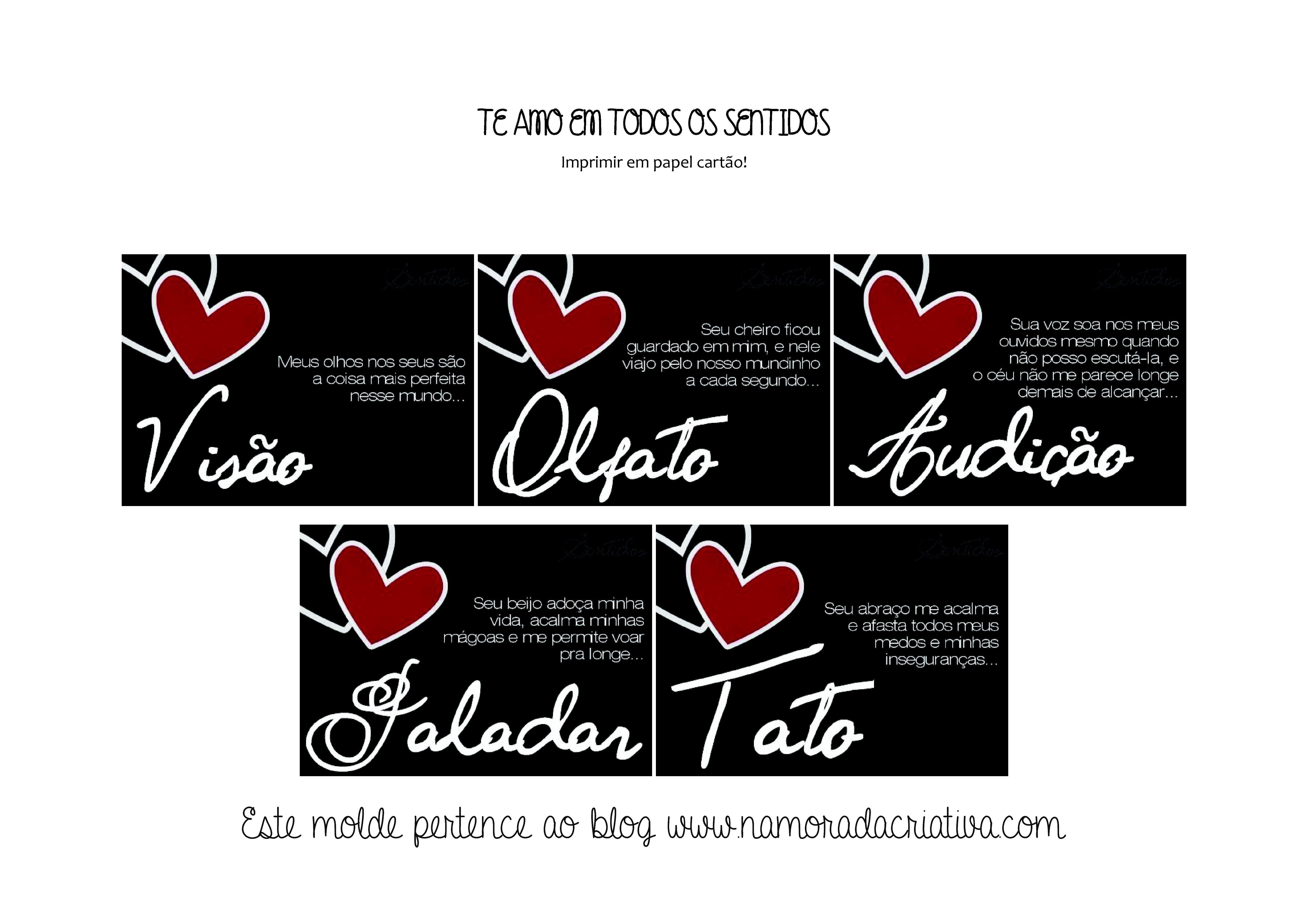 13fe0b62f3c349 Caixa dos 5 Sentidos – Dicas e Moldes | Coisas Legais Para Namorados ...