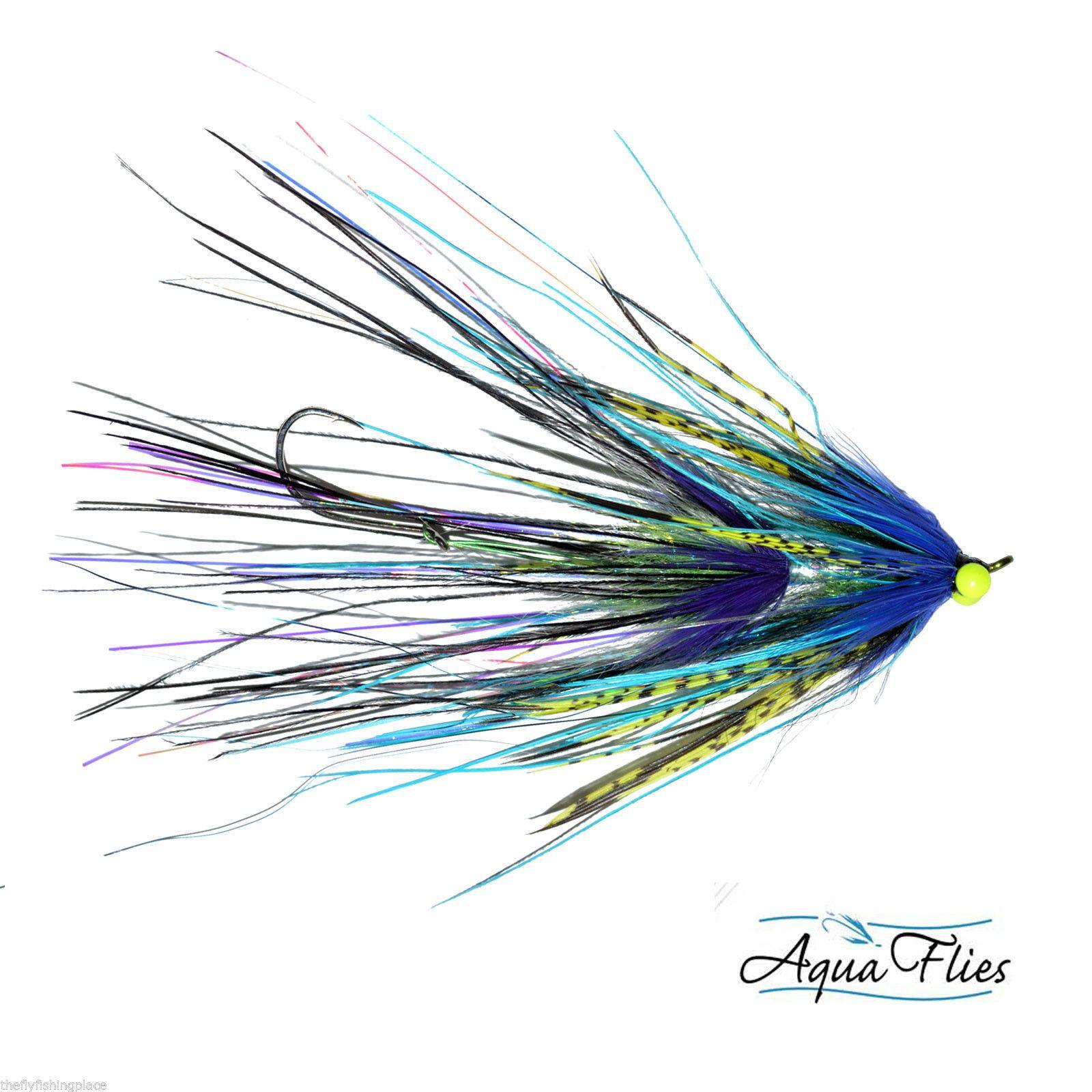 Stu's Intruder Steelhead Fly Aqua Flies Blue/Purple 3 Flies Free Shipping