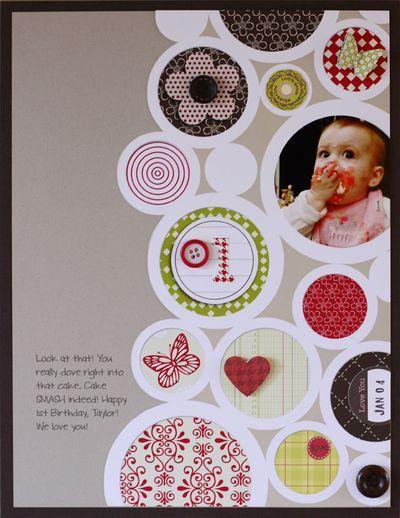 Layout Inspiration: Circles.