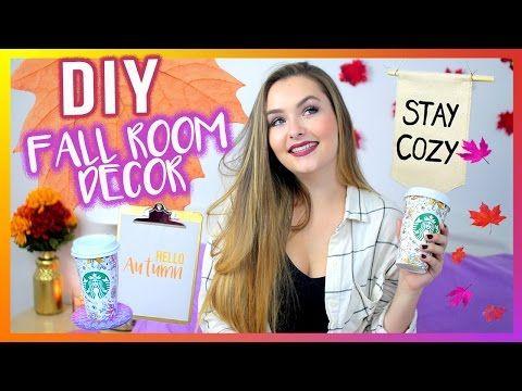 diy fall room decor cheap easy tumblr inspired youtube