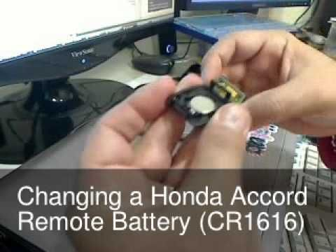 Changing The Remote Key Battery For A Honda Accord My Original Lasted 5 Yrs But Alas It D