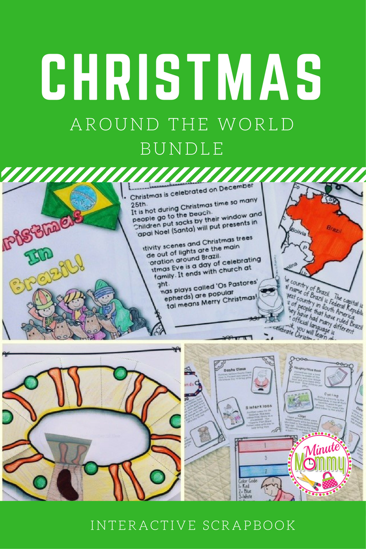 Christmas Around the World: Scrapbooks {11 Country Bundle} | Number ...