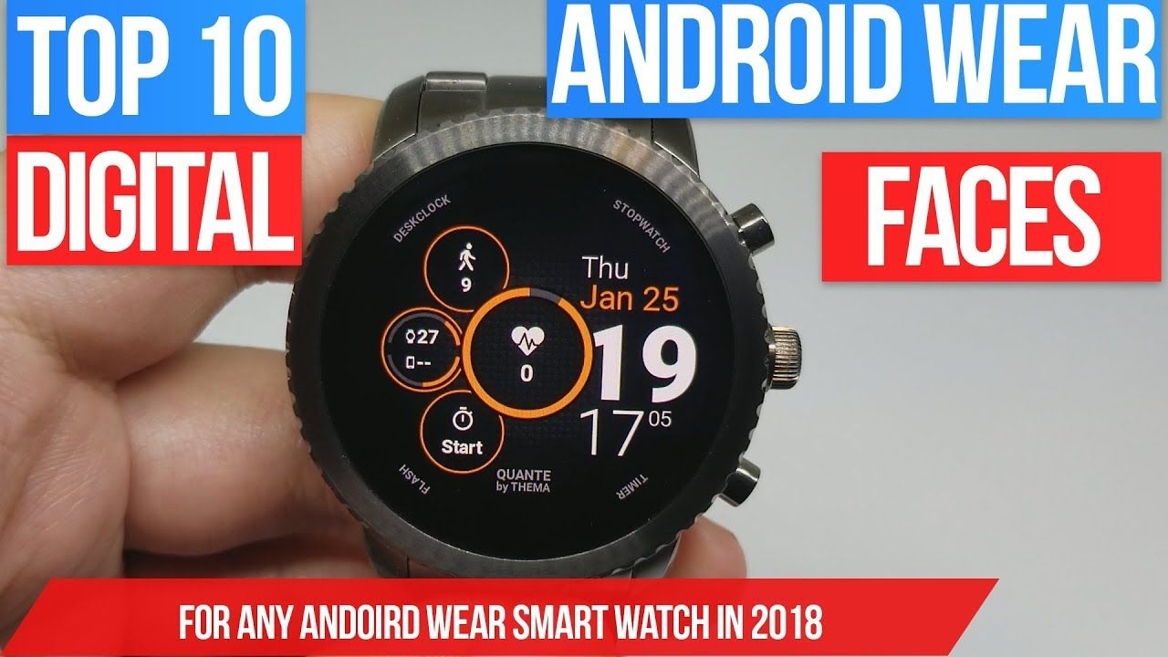 Top 10 Android Wear Digital Watch Faces Best Faces For Your Android We Digital Watch Face Android Wear Cool Watches