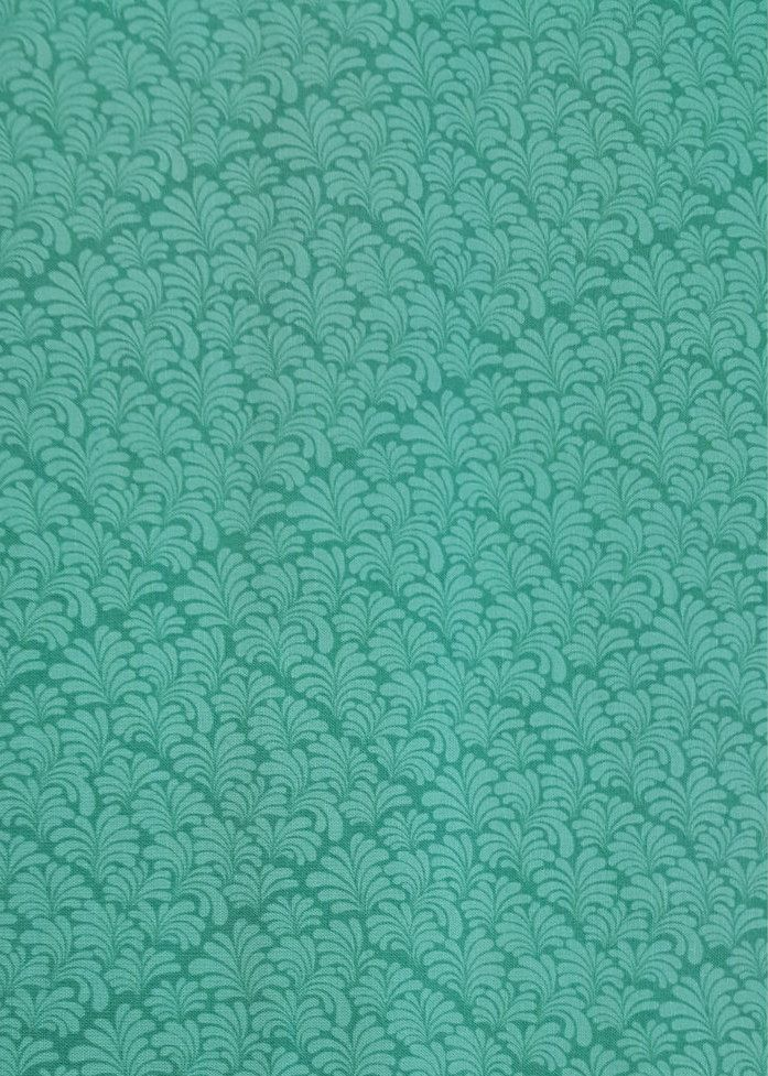 Turquoise fabric-Morcoccan Leaf fabric-Cotton quilting fabric-Sold by the 1/2 yard by AmourFabriQues on Etsy