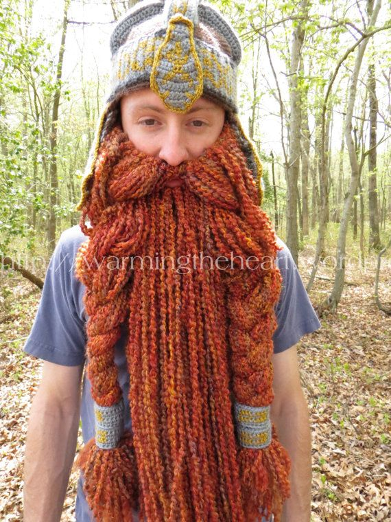 185e4ff6e762a7 Crochet PATTERN - Gimli Inspired Beard ONLY | Crochet Beard | Viking ...