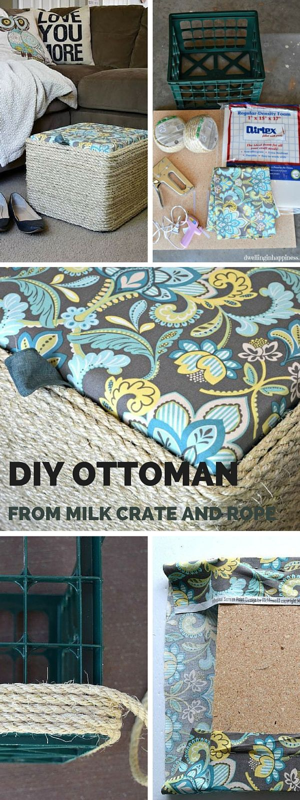 Diy Ottoman Slipcover No Sew