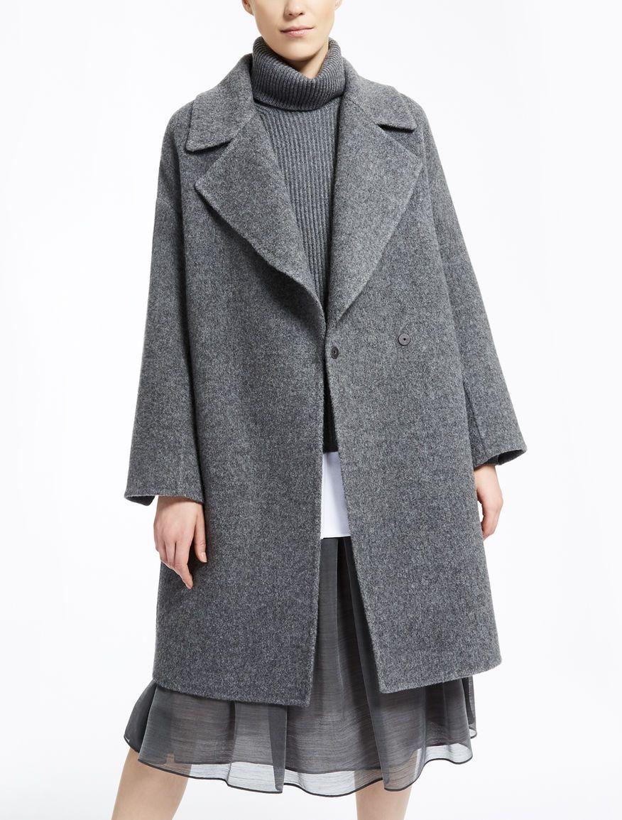 Max Mara MANILA gris moyen: Manteau en laine et mohair.