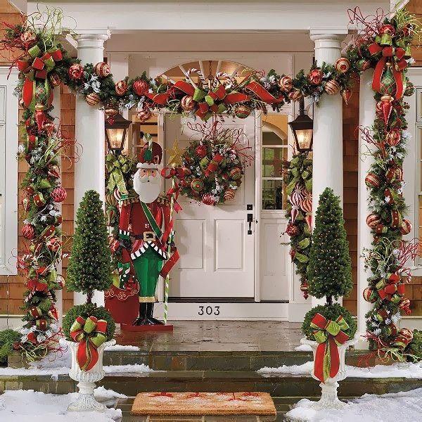 Decorazioni Natalizie Da Esterno.Decorazioni Di Natale Da Esterno Foto My Luxury Vetrina