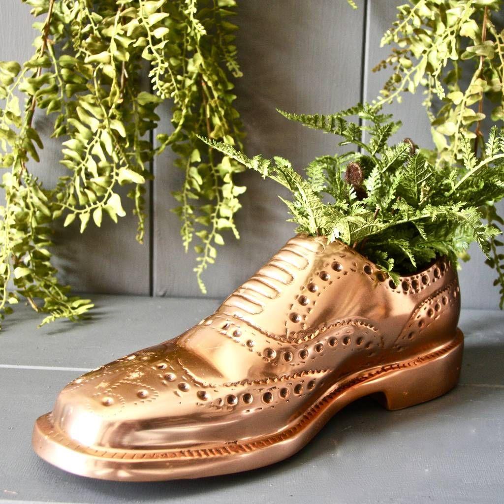 Copper Brogue Shoe Planter Brogue Shoes Brogues Planters