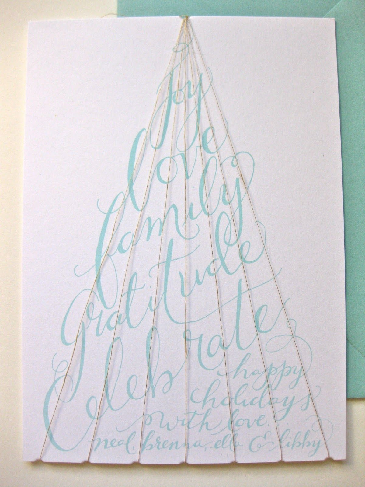 paper & ink Homemade christmas card. Great idea and simple | Crafts ...
