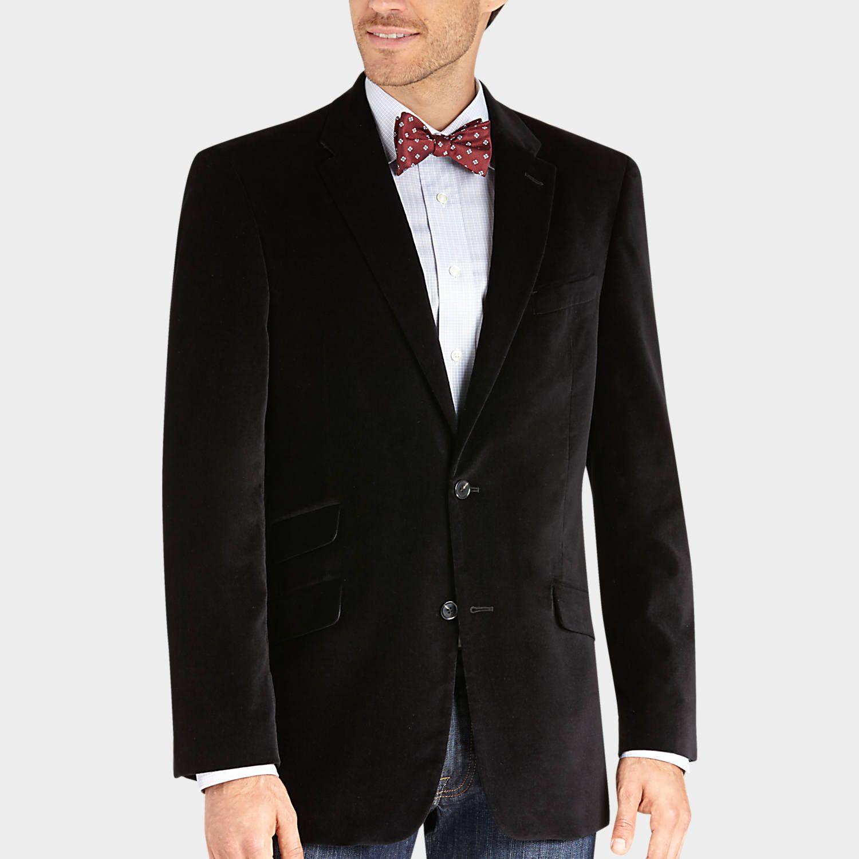 Buy a Tommy Hilfiger Black Velvet Slim Fit Sport Coat and other ...
