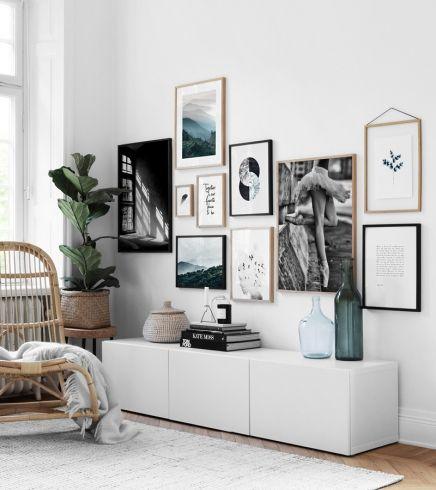 Bilderwand desenio art walls wohnzimmer schlafzimmer - Bilderwand wohnzimmer ...