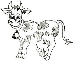 How To Draw Cartoon Cows Farm Animals Step By Drawing Tutorial