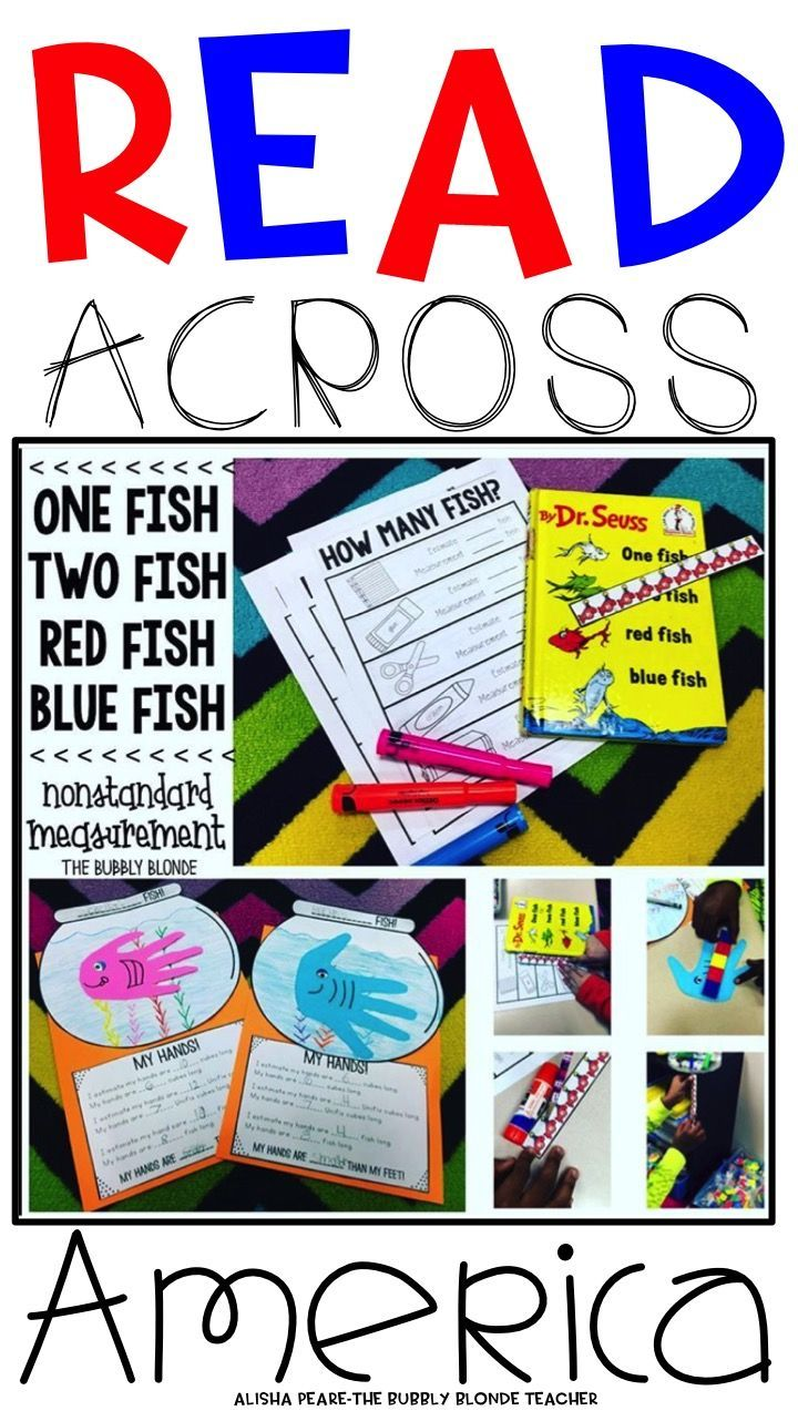 Measuring with 1 Fish, 2 Fish, Red Fish, Blue Fish!  Free downloads!