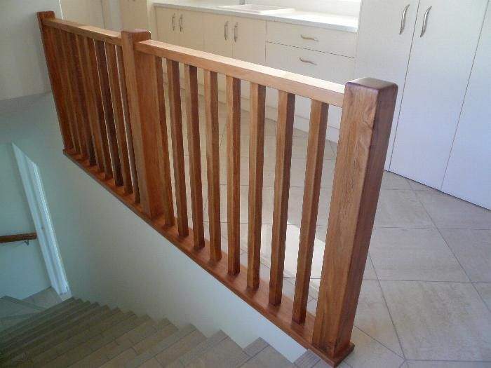 Wood Staircase Banisters See rustic wood railing http ...