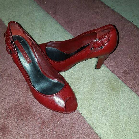 2349b135c591 Bandolino red peep toe pump A few years old but only worn a handful of  times