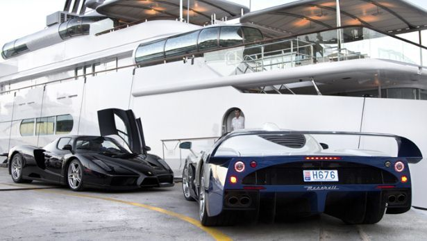 Supercars At Monaco Marina Monacoyachthospitality Luxury