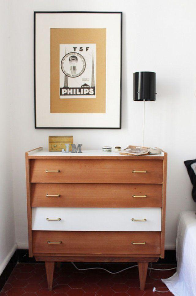 commode années 60 de la chambre | Furniture makeover, Nightstands ...