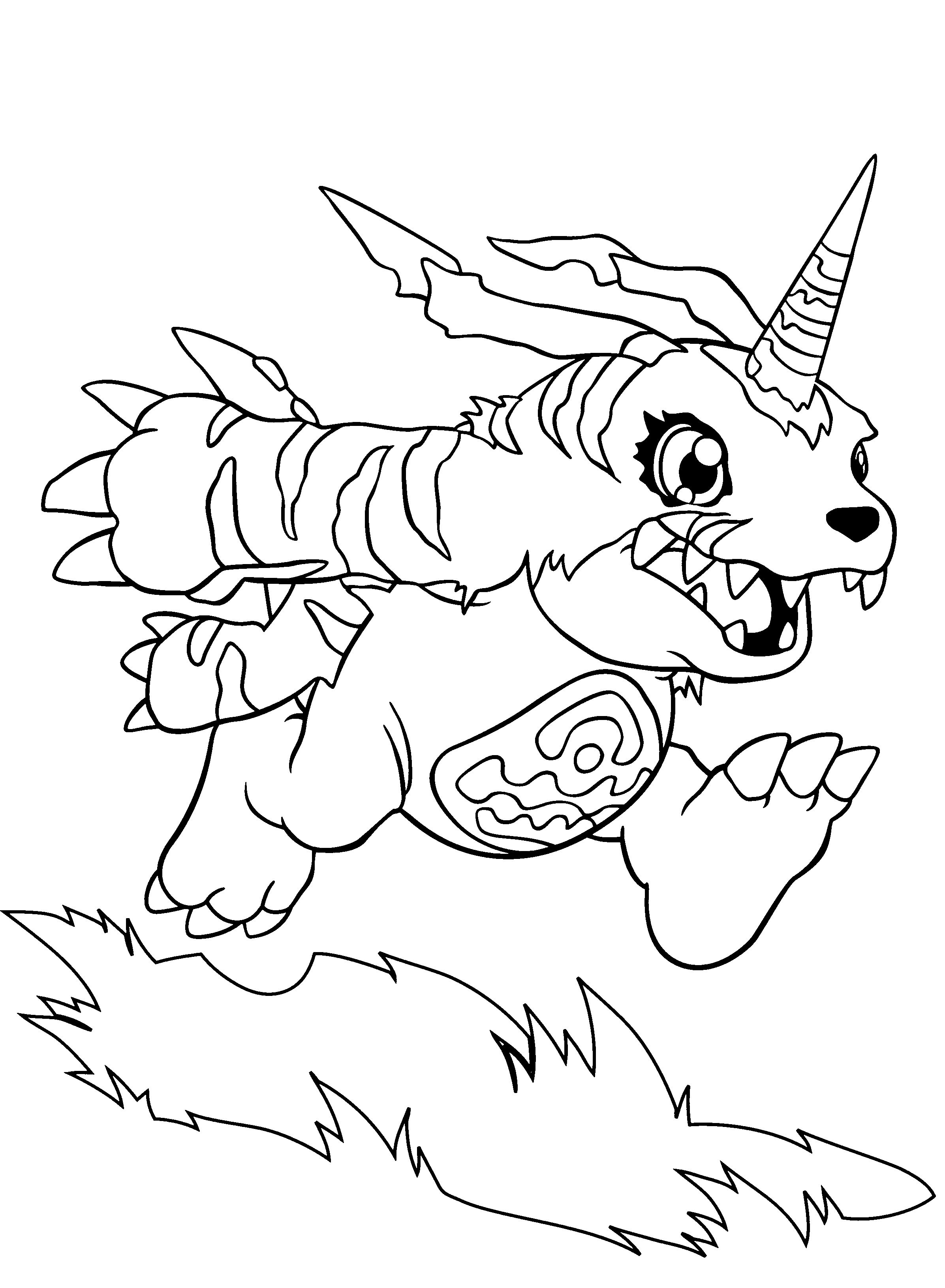 Gabumon Monster Coloring Pages | coloring | Pinterest | Monsters and ...