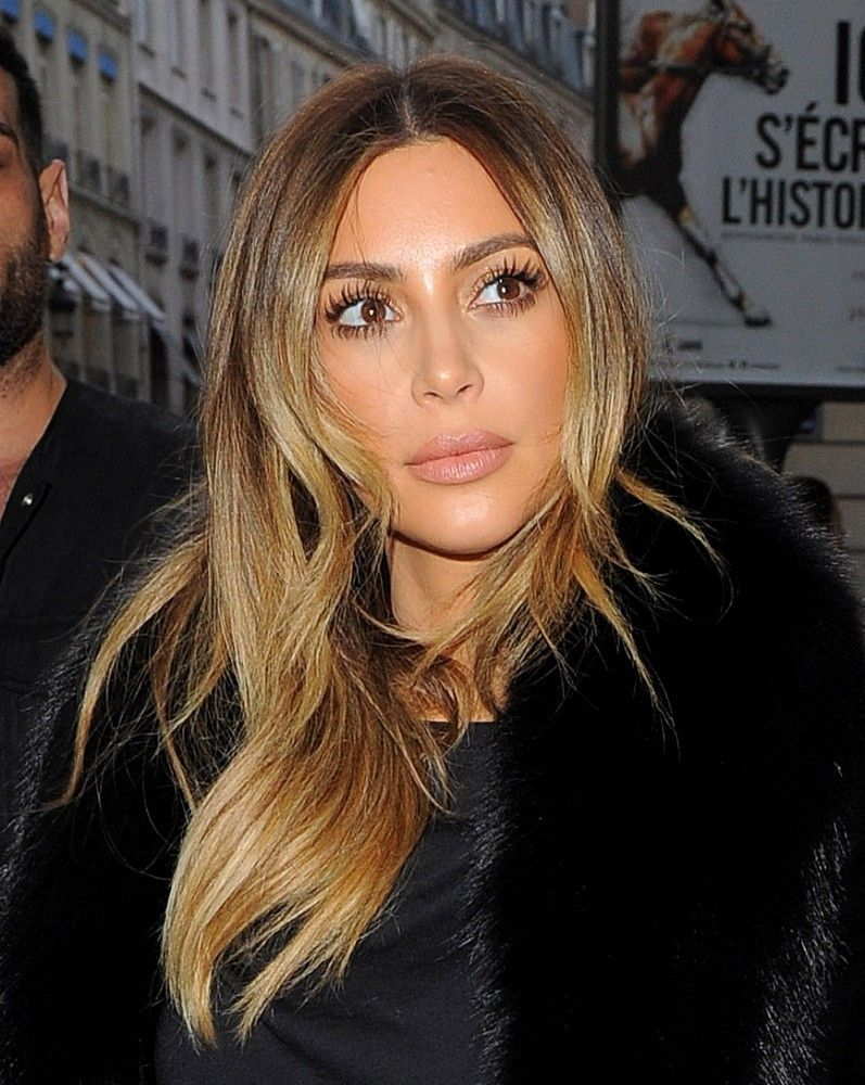Kim Kardashian Is A Brunette Againsee The New Do Beauty