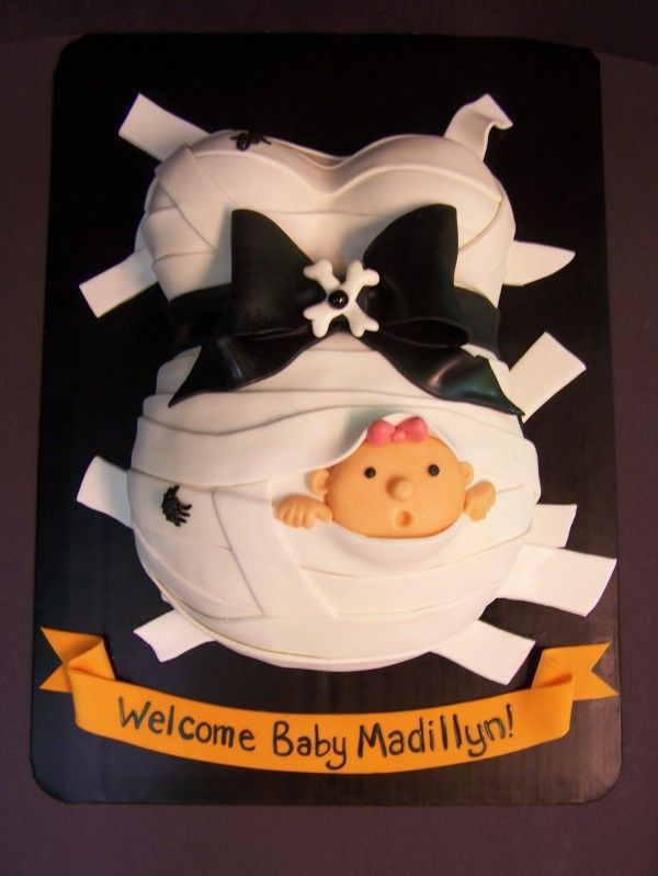halloween baby shower cakes