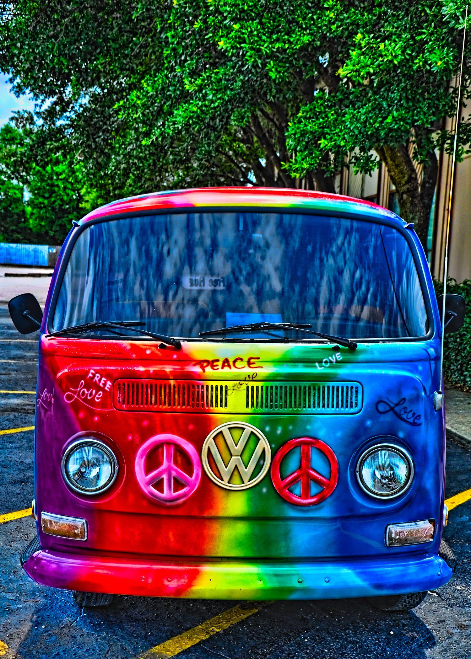 Salah Satu Mobil Idaman Vw Bus Rainbow Peace Love
