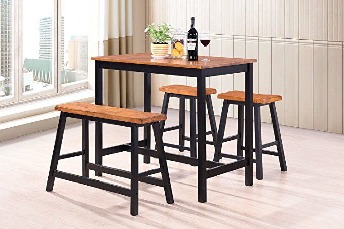 Terrific Harperbright Designs 4 Piece Dining Set Counter Height Lamtechconsult Wood Chair Design Ideas Lamtechconsultcom