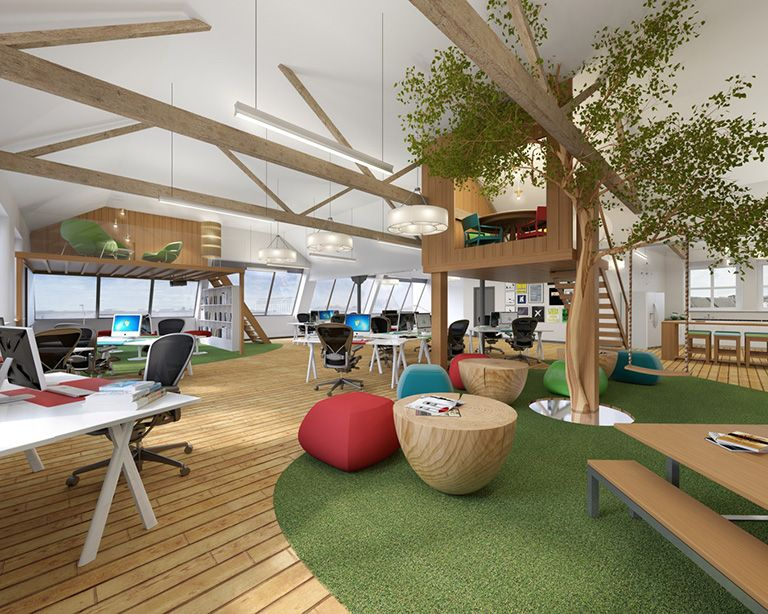 A treehouse in the office? Yes, please! Workplace design