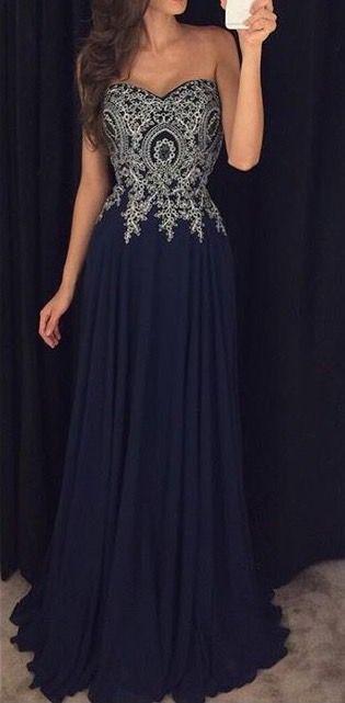 Sweetheart Neck Black Chiffon Prom Dresses Silver Lace Appliqued Bodice Formal  Dresses 9e3a19360bd8